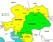 This is what Austria-Hungary looked like before they were seperated into 2 different countries.