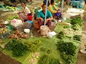 Marché de produits sauvages