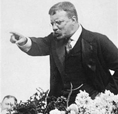 Roosevelt talking to the public.