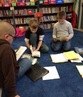 Working on their Readers' Notebooks