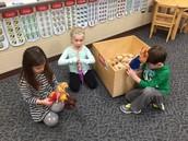 Dolls and blocks
