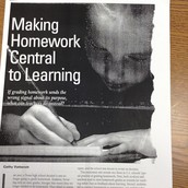 Making Homework Central to Learning