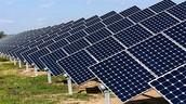 Solar pannels on open fields
