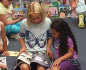 Kids did a great job helping at the book fair!