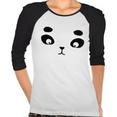 La camiseta Con panda