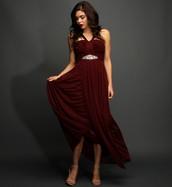 Vestido de Oscuro Rojo