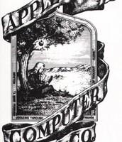 Dyma logo cyntaf 'Apple'