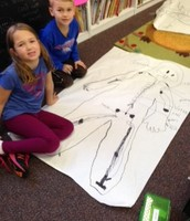 Learning about our skelton during E-Time!