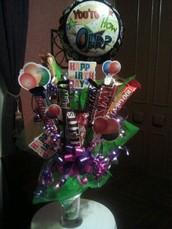 Birthday Candy Arrangments