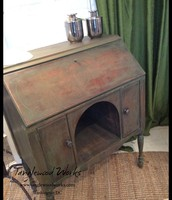 Boxwood Green Chalkpaint Vintage Secretary ~ $275