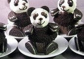 triply chocolate panda cupcakes
