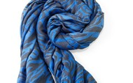 Luxembourg Scarf- Cerulean Tiger $59
