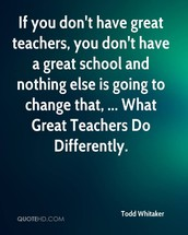 WHAT GREAT TEACHERS DO DIFFERENTLY:  MORE FROM TODD WHITAKER