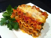 Our famous Classic Cheese Lasagna 15.99 plus tax