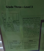 Student Examples and Level Descriptors Displayed