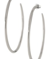 Signature hoops silver*