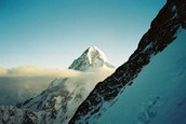 K2 seen from high on Broad Peak