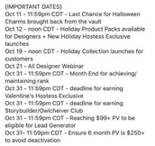 Important Dates!!