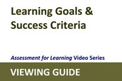 Learning Goals and Success Criteria - Viewing Guide