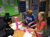 Cup stacking in math