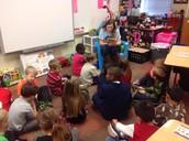Miss Jacobs reads Junie B. Jones to the class