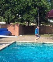Jack's first time on a diving board!