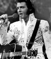 """Elvis sings """"Hearbreak Hotel"""" at his concert"""