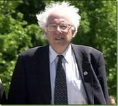 Bernie wearing a shirt