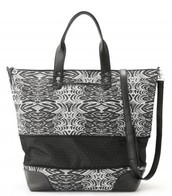 Getaway Bag- Painted Zebra Design $69