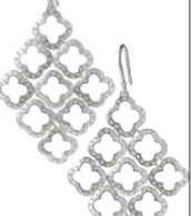 Signature Clover Chandelier Earrings- Silver