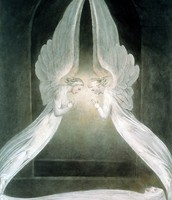 The Angels Hovering Over the Body of Christ in the Sculpture