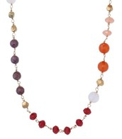Eileen Necklace - Pink/Red