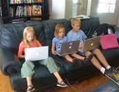 Using computers at home