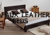 Leather bed for your room, which will also look elegant
