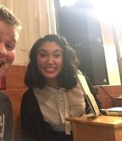 Aiden with Sarah Kay
