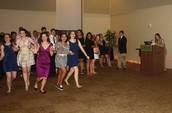 Seniors on the run at spring formal