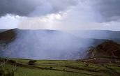 Él volcán de Masaya