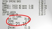 Example of sales tax