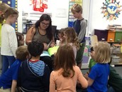 Sharing our goodby book with Ms Gomez