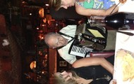 a little music at our italian dinner!