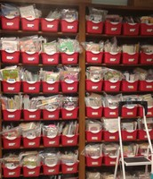Our many leveled book bins...