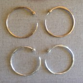 Signature Hoops in silver and bronze