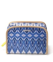 Beauty bag, indigo ikat, was $44, now $20