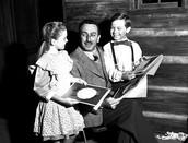 Disney with his children