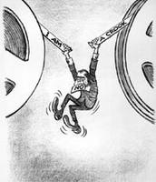 Nixon hanging between the tapes
