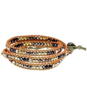 SOLD!!!!!!   Wanderlust Triple Wrap Bracelet - Orange