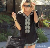 Embroidered Tunic. In BLACK!!!