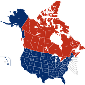 The U.S and Canada Map