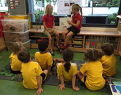 Kate and Ava read Elephant and Piggy