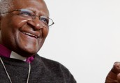 Desmond Tutu after he accepted his Nobel Peace Prize